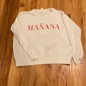 White Mañana thin sweat shirt
